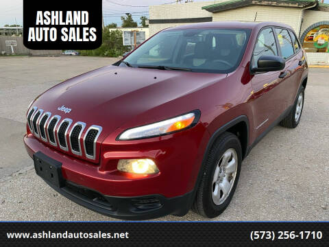 2014 Jeep Cherokee for sale at ASHLAND AUTO SALES in Columbia MO