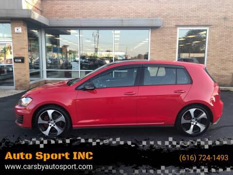 2015 Volkswagen Golf GTI for sale at Auto Sport INC in Grand Rapids MI