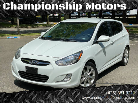 2012 Hyundai Accent for sale at Championship Motors in Redmond WA