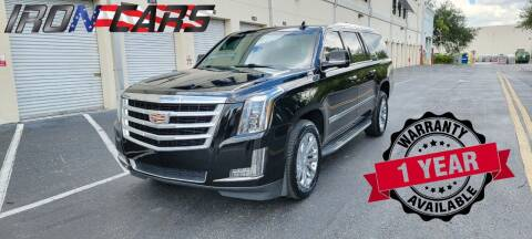 2016 Cadillac Escalade ESV for sale at IRON CARS in Hollywood FL
