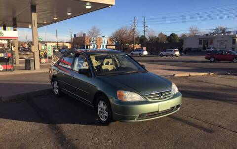 2003 Honda Civic for sale at QUEST MOTORS in Englewood CO