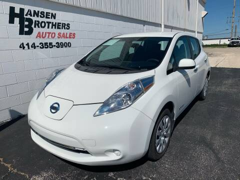2016 Nissan LEAF for sale at HANSEN BROTHERS AUTO SALES in Milwaukee WI