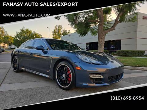 2010 Porsche Panamera for sale at FANASY AUTO SALES/EXPORT in Yorba Linda CA