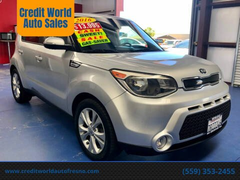 2016 Kia Soul for sale at Credit World Auto Sales in Fresno CA