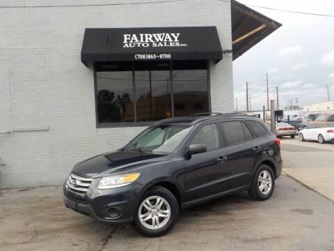 2012 Hyundai Santa Fe for sale at FAIRWAY AUTO SALES, INC. in Melrose Park IL