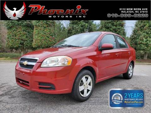 2010 Chevrolet Aveo for sale at Phoenix Motors Inc in Raleigh NC