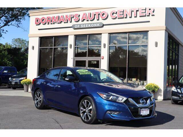 2016 Nissan Maxima for sale at DORMANS AUTO CENTER OF SEEKONK in Seekonk MA