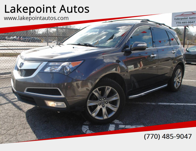 2012 Acura MDX for sale at Lakepoint Autos in Cartersville GA