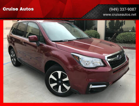 2017 Subaru Forester for sale at Cruise Autos in Corona CA