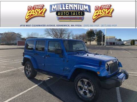 2016 Jeep Wrangler Unlimited for sale at Millennium Auto Sales in Kennewick WA