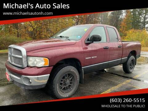 2002 Dodge Ram Pickup 1500 for sale at Michael's Auto Sales in Derry NH