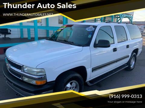 2002 Chevrolet Suburban for sale at Thunder Auto Sales in Sacramento CA
