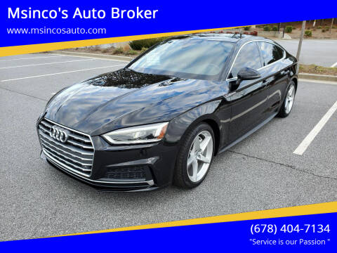 2018 Audi A5 Sportback for sale at Msinco's Auto Broker in Snellville GA