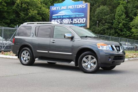 2012 Nissan Armada for sale at Skyline Motors in Louisville TN