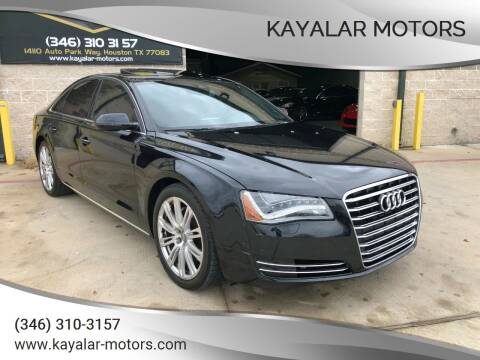 2014 Audi A8 for sale at KAYALAR MOTORS in Houston TX