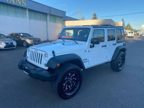 2015 Jeep Wrangler Unlimited for sale at TacomaAutoLoans.com in Tacoma WA