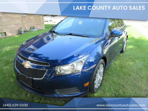 2012 Chevrolet Cruze for sale at Lake County Auto Sales in Painesville OH