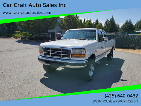 1997 Ford F-250 for sale at Car Craft Auto Sales Inc in Lynnwood WA