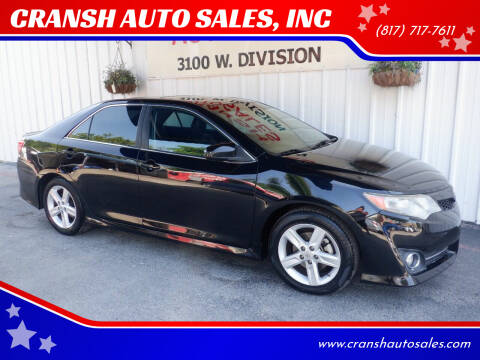 2013 Toyota Camry for sale at CRANSH AUTO SALES, INC in Arlington TX