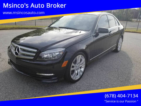 2011 Mercedes-Benz C-Class for sale at Msinco's Auto Broker in Snellville GA
