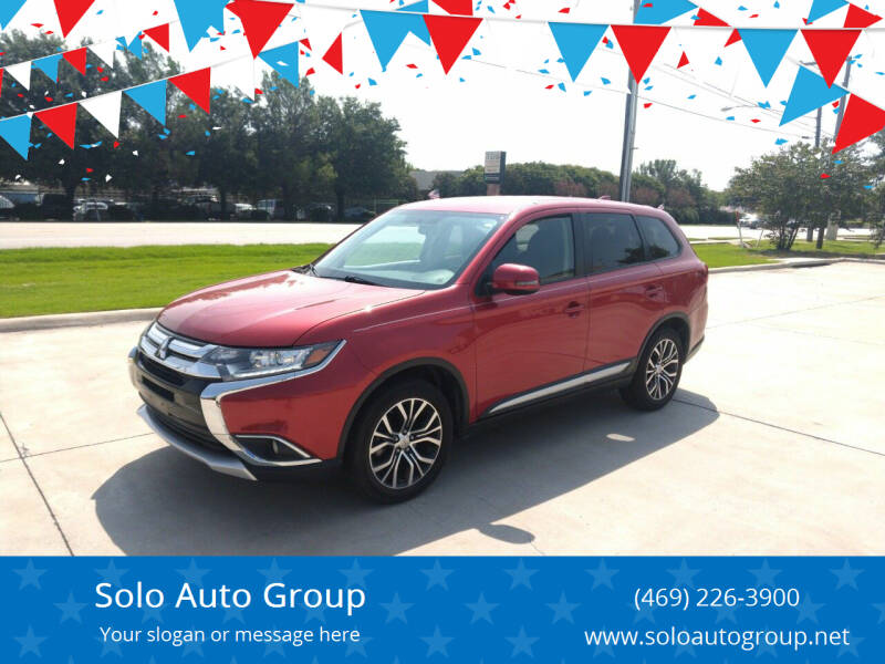 2017 Mitsubishi Outlander for sale at Solo Auto Group in Mckinney TX