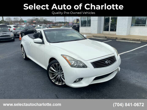 2012 Infiniti G37 Convertible for sale at Select Auto of Charlotte in Matthews NC