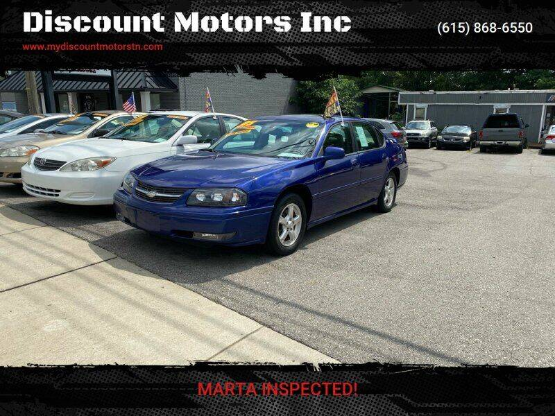 2005 Chevrolet Impala for sale at Discount Motors Inc in Madison TN
