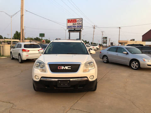 2010 GMC Acadia for sale at MB Auto Sales in Oklahoma City OK