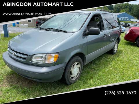 2000 Toyota Sienna for sale at ABINGDON AUTOMART LLC in Abingdon VA