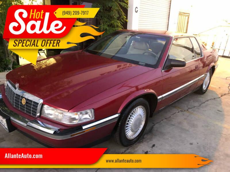 1992 Cadillac Eldorado for sale at AllanteAuto.com in Santa Ana CA