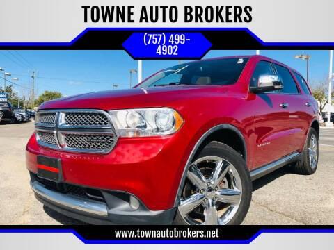 2011 Dodge Durango for sale at TOWNE AUTO BROKERS in Virginia Beach VA