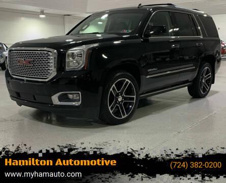 2015 GMC Yukon for sale at Hamilton Automotive in North Huntingdon PA