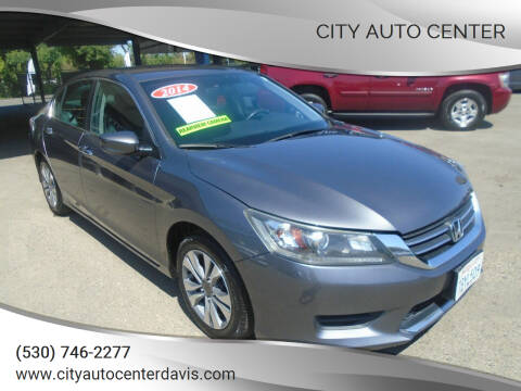 2014 Honda Accord for sale at City Auto Center in Davis CA