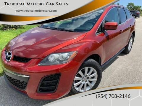 2011 Mazda CX-7 for sale at Tropical Motors Car Sales in Deerfield Beach FL