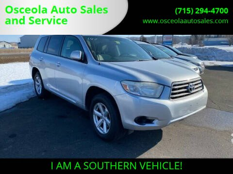 2008 Toyota Highlander for sale at Osceola Auto Sales and Service in Osceola WI