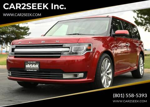 2013 Ford Flex for sale at CAR2SEEK Inc. in Salt Lake City UT