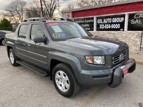 2008 Honda Ridgeline for sale at GOL Auto Group in Austin TX