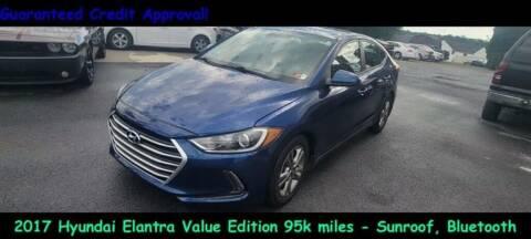 2017 Hyundai Elantra for sale at Fortnas Used Cars in Jonestown PA
