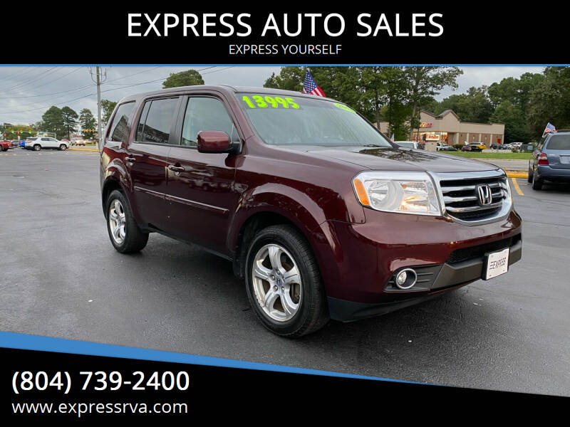 2012 Honda Pilot for sale at EXPRESS AUTO SALES in Midlothian VA