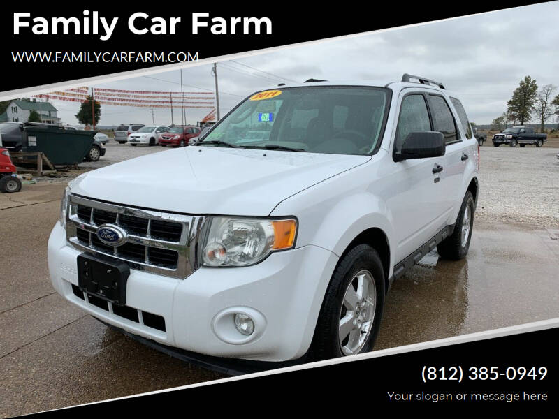 2011 Ford Escape for sale at Family Car Farm in Princeton IN