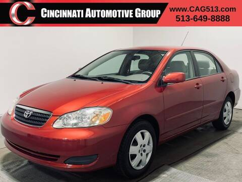 2005 Toyota Corolla for sale at Cincinnati Automotive Group in Lebanon OH