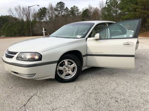 2003 Chevrolet Impala for sale at WIGGLES AUTO SALES INC in Mableton GA