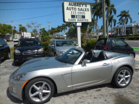 2008 Saturn SKY for sale at Aubrey's Auto Sales in Delray Beach FL