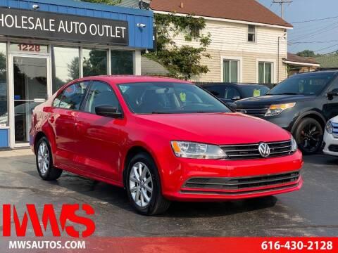 2015 Volkswagen Jetta for sale at MWS Wholesale  Auto Outlet in Grand Rapids MI