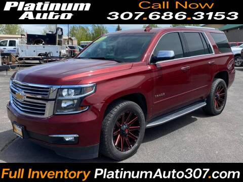 2017 Chevrolet Tahoe for sale at Platinum Auto in Gillette WY