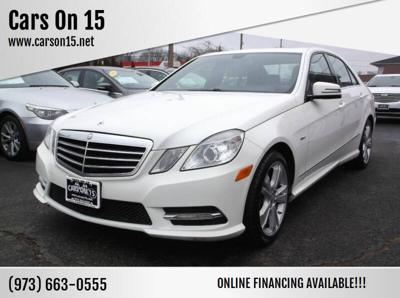 2012 Mercedes-Benz E-Class for sale at Cars On 15 in Lake Hopatcong NJ