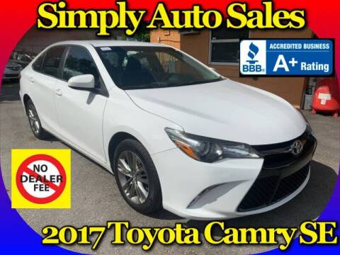 2017 Toyota Camry for sale at Simply Auto Sales in Palm Beach Gardens FL