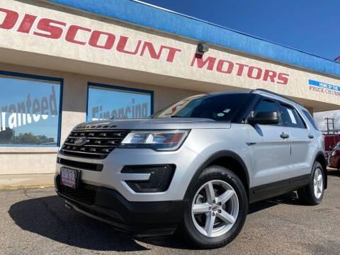 2016 Ford Explorer for sale at Discount Motors in Pueblo CO