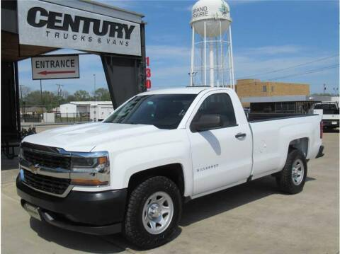 2016 Chevrolet Silverado 1500 for sale at CENTURY TRUCKS & VANS in Grand Prairie TX