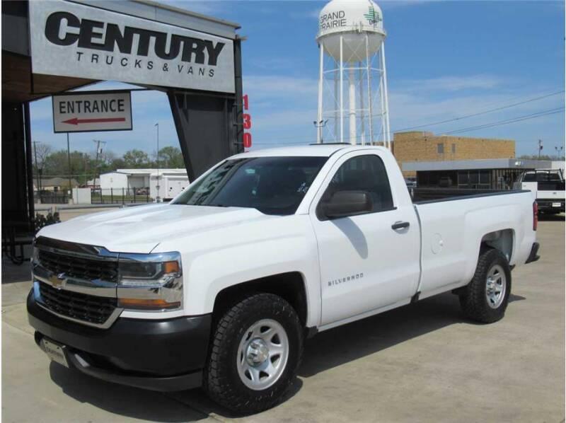 2016 Chevrolet Silverado 1500 for sale at CENTURY TRUCKS & VANS in Grand Prairie TX